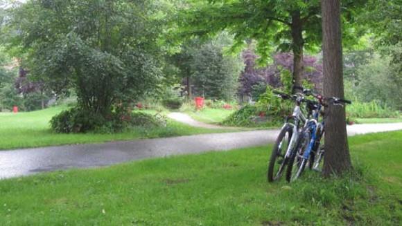 Lautertal bike path in Kaiserslautern, Germany