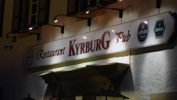 Kyrburg Restaurant in Kirn, Germany