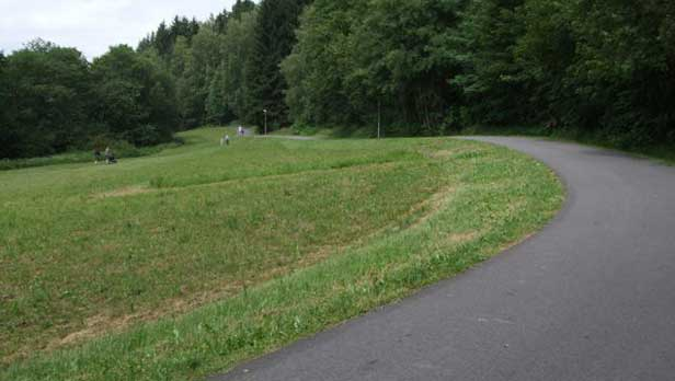 Frymburk bike trail near Lipno Lake