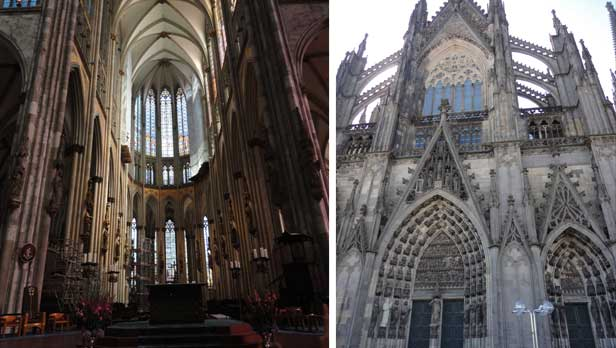 Inside the Cologne Dom (cathedral) in Germany