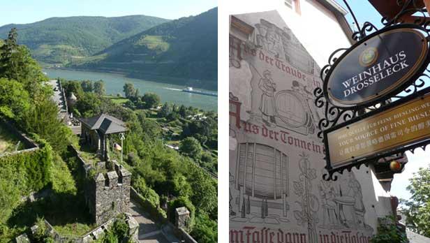 Rhine River castle and Rudesheim