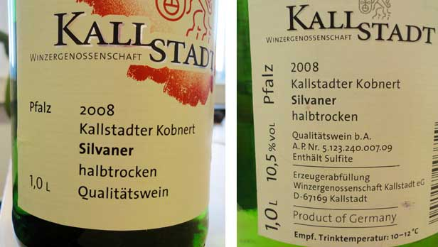 German Wine Labels