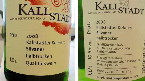 German Wine Labels