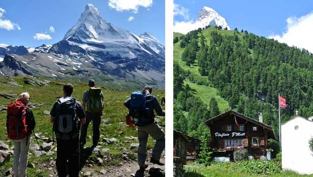 Views while hiking the Matterhorn