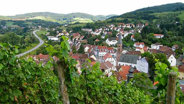 The view of Wolfstein from the hiking trail