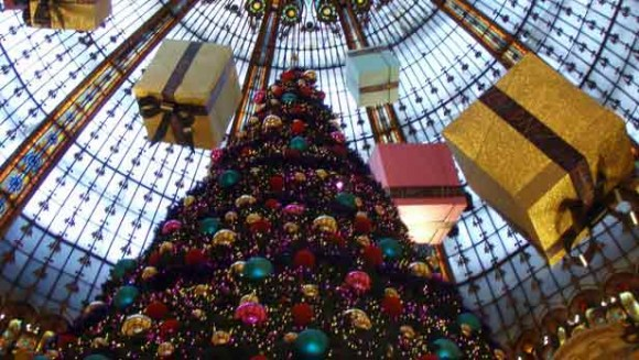 Paris Galleries Lafayette at Christmas