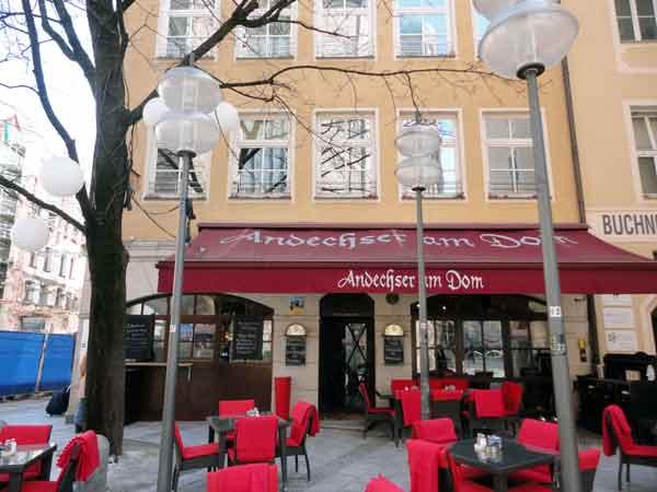 Andechser Am Dom Restaurant in Munich, Germany