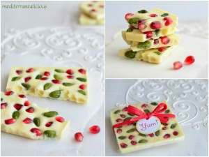 pomegranate and pistachio chocolate bark
