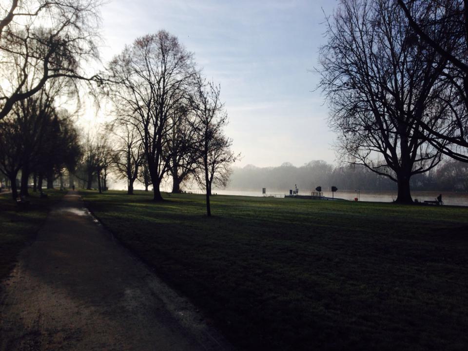 Early morning run in Mannheim