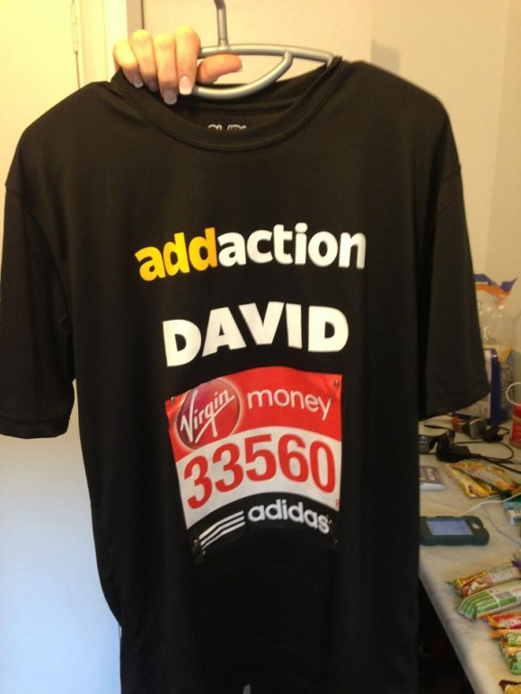 David Sweeney is running the London Marathon for Addaction