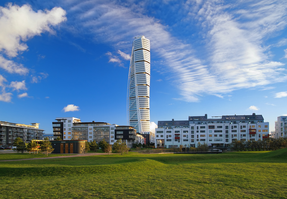 Turning Torso skyscraper on November 6, 2010 in Malmo, Sweden.
