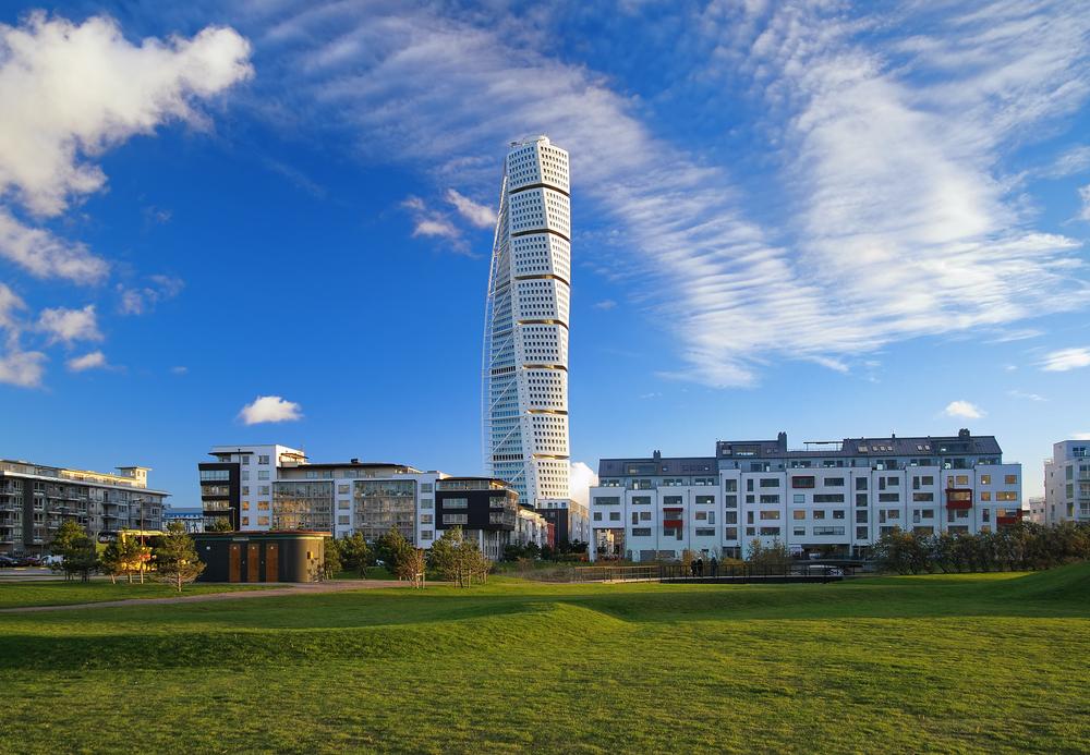 Turning Torso skyscraper on November 6, 2010 in Malmo, Sweden.