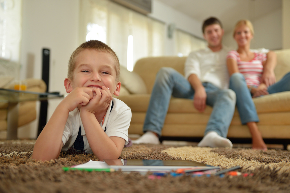 Declutter Your Home happy child parents family