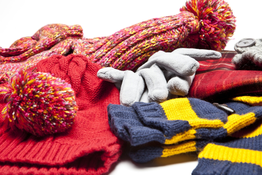 Winter Clothing, scarves, scarf, gloves, hat