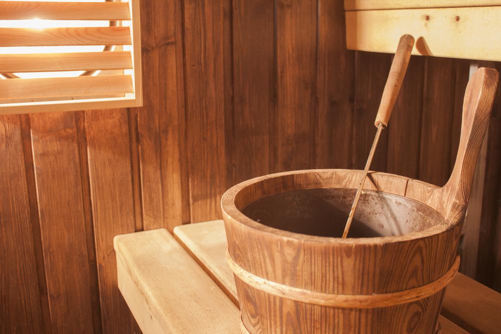 7 W sauna wooden