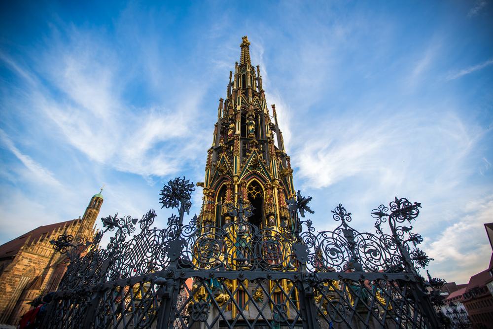 Visit Nuremberg fountain