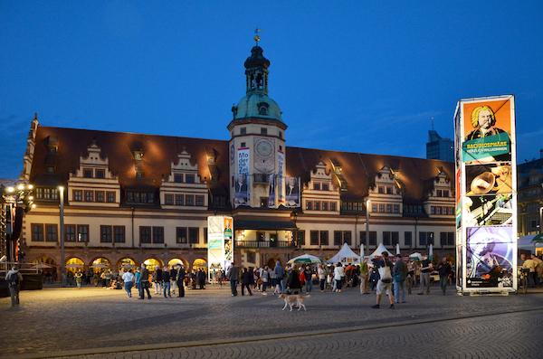Bachfest Leipzig - Bachmosphäre vor dem Alten Rathaus