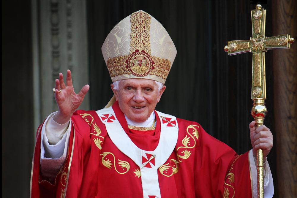 Pope Benedict XVI. Editorial credit 360b / Shutterstock.com