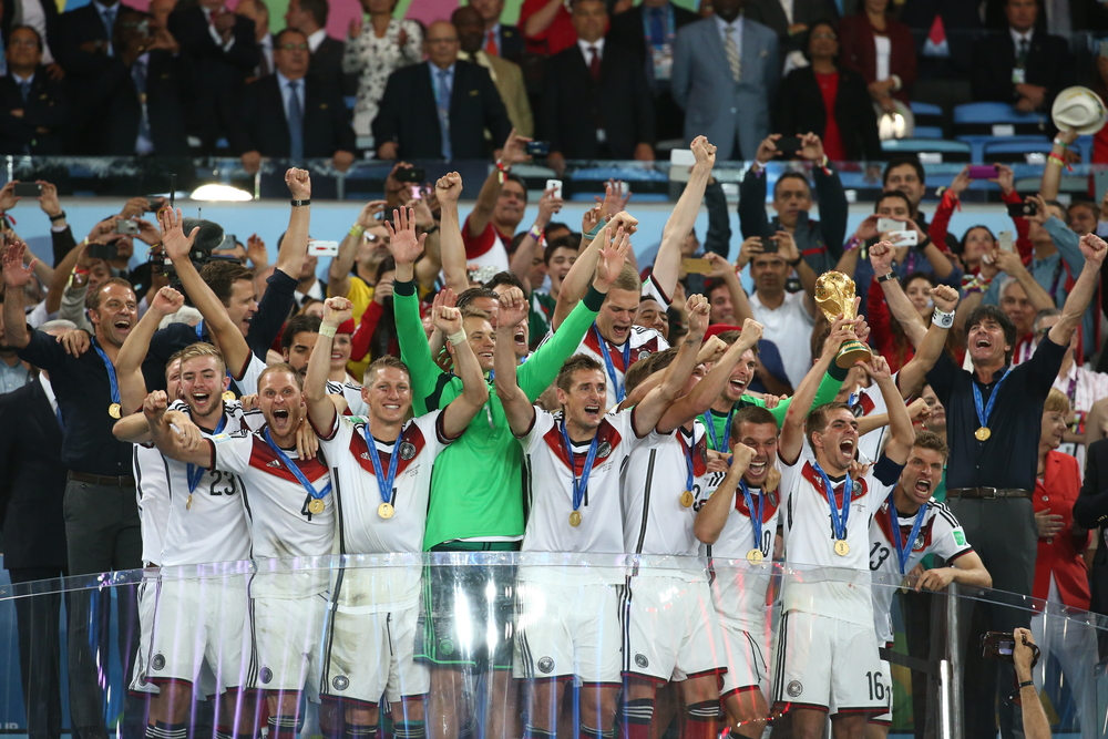 The 2014 German National Soccer Team. Editorial credit ANDRE DURAO / Shutterstock.com