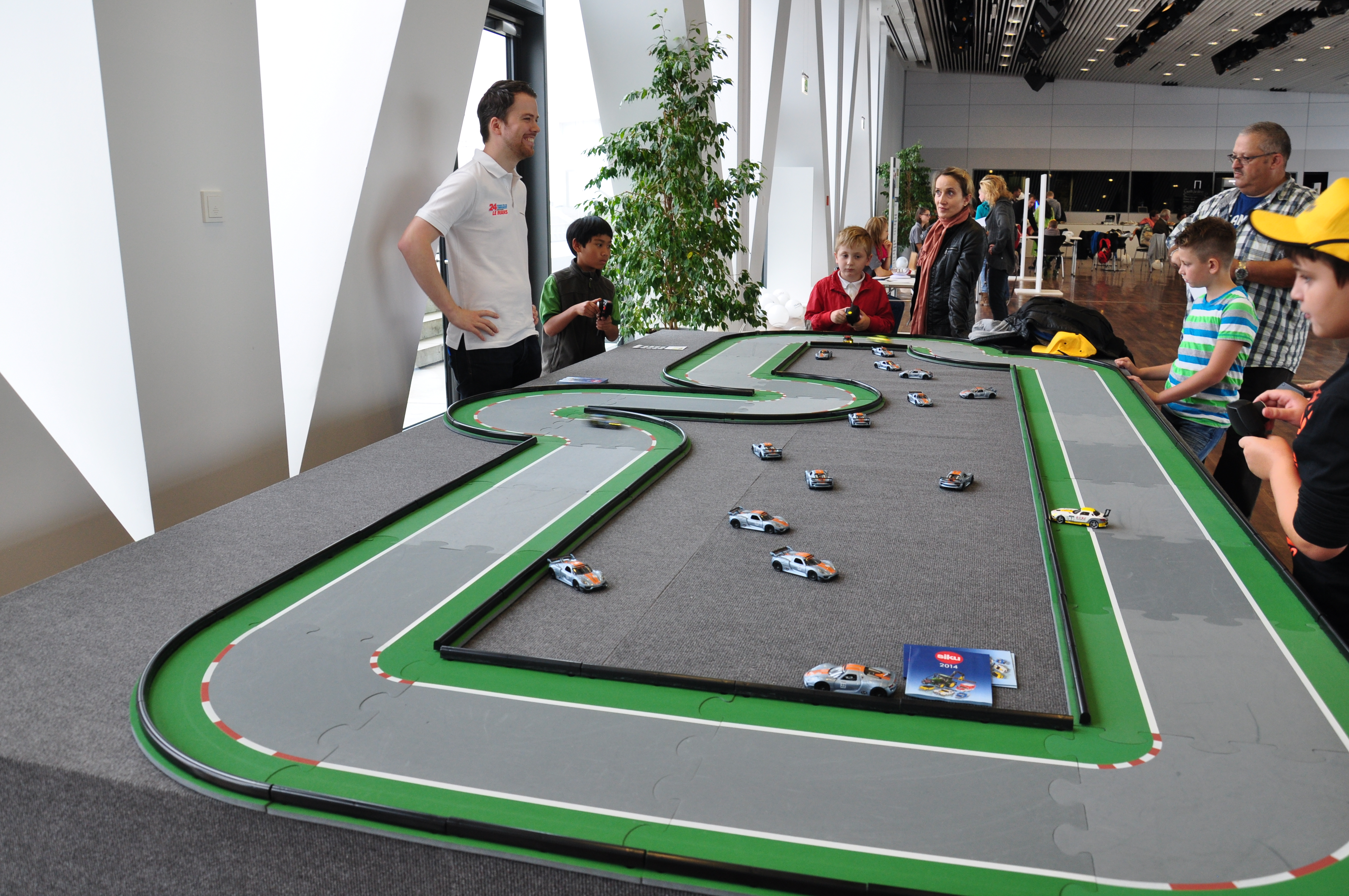 porsche race car track with kids 8