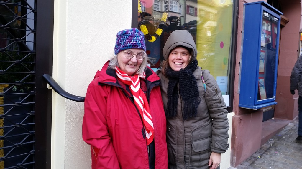 Wendy Gudrun & me at Rotweil Fastnet parade