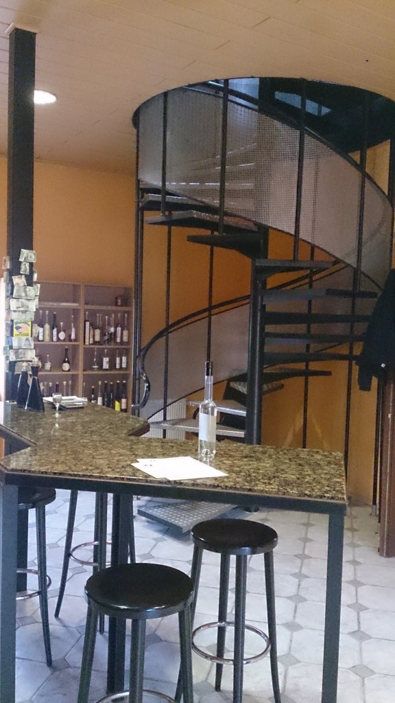 distillery bar and staircase 1