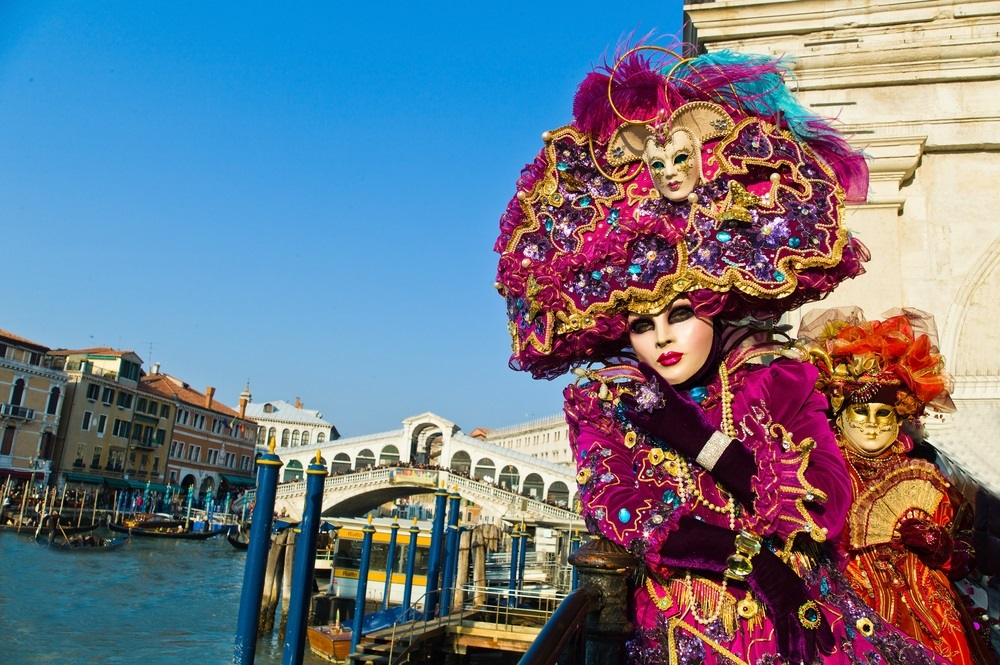 Venice costume purple