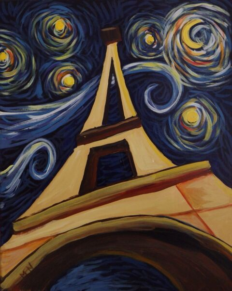 Paint and Sip Eiffel Tower