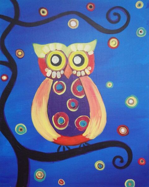 Paint and Sip owl