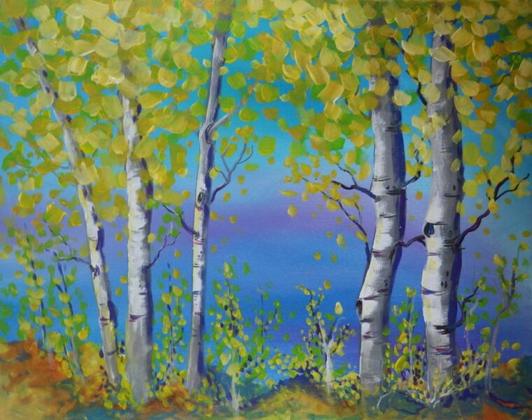 Paint and Sip trees
