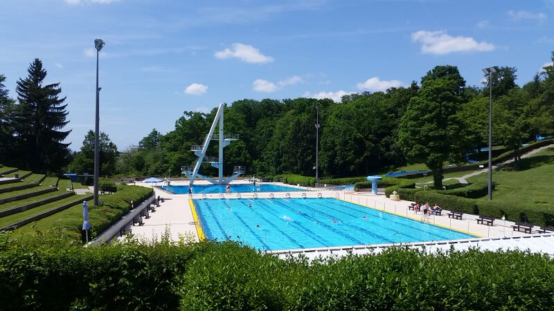 Swimming outdoor pool