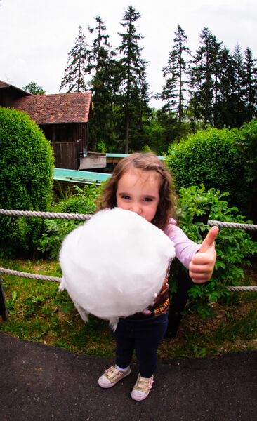 Taunus Wunderland kid with cotton candy