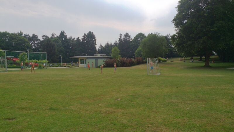 Miesau Waldfreibad Pool soccer field