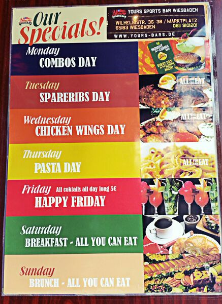 Your Sports Bar Specials