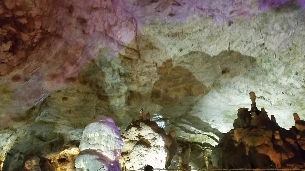 purple stalactites
