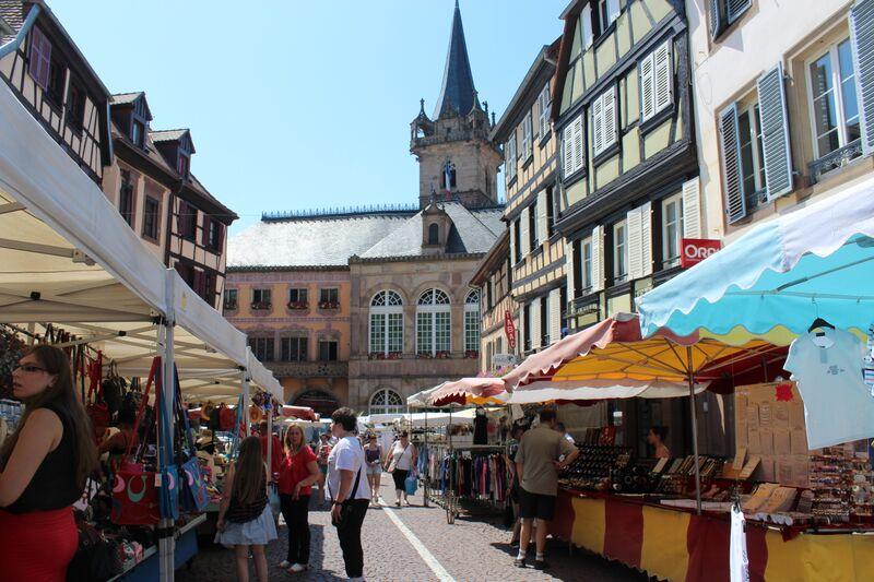 The heart of Alsace Obernai Street Market