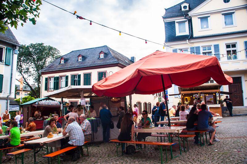 Food Stands Gemma Rüdesheim's Annual Wine Festival