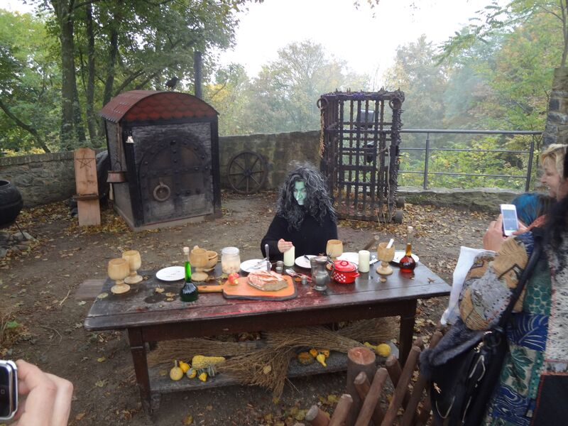 Photo 1a Cheryl Halloween at Frankenstein's Castle