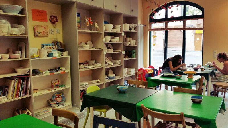 Room Gemma Mal-Werk Pottery Painting Café in Mainz