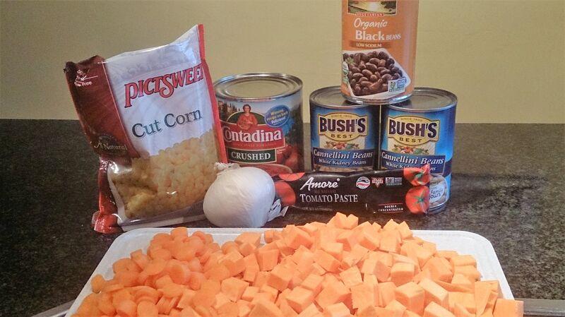 Chilli ingredients food Kelly Vegetarian Chilli Recipe