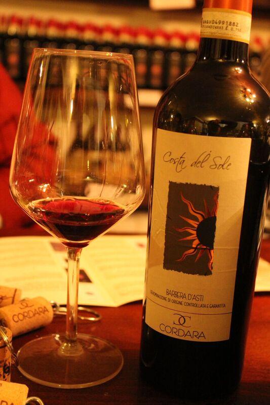 Cordara wine Wendy Italy's tasty treasures