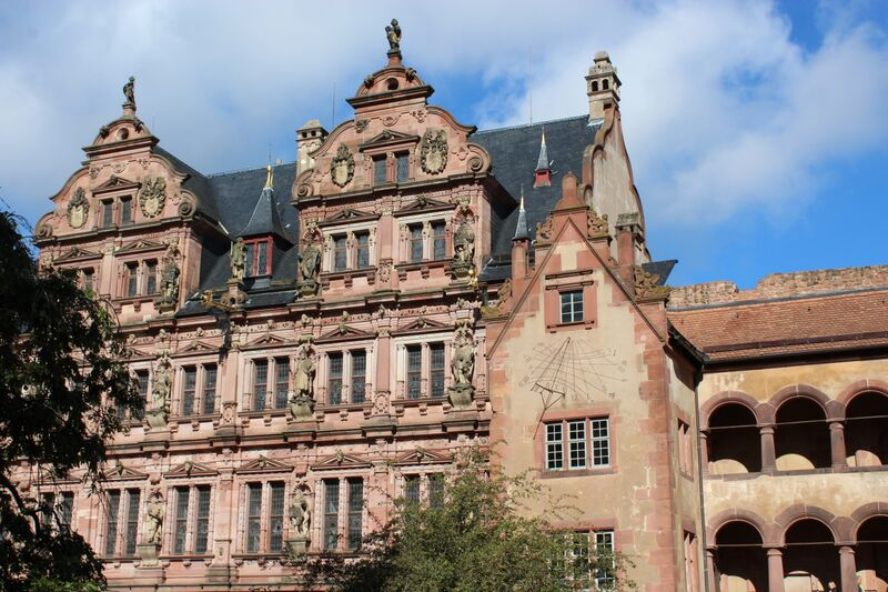 Heidelberg castle wall 5205 Wendy A stroll through Heidelberg