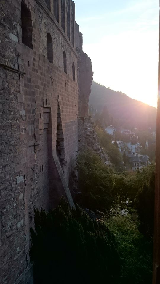 Heidelberg wall with sun