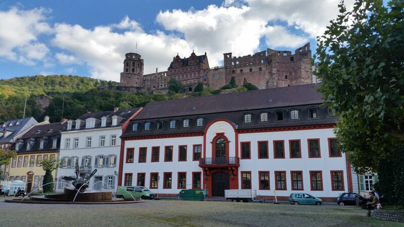 View of castle old town Wendy A stroll through Heidelberg