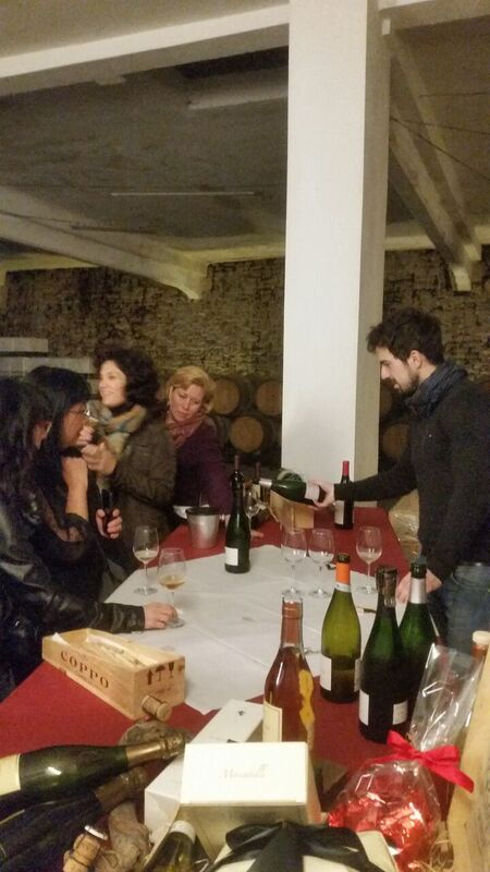 Wine tasting at Coppo Wendy Italy's tasty treasures