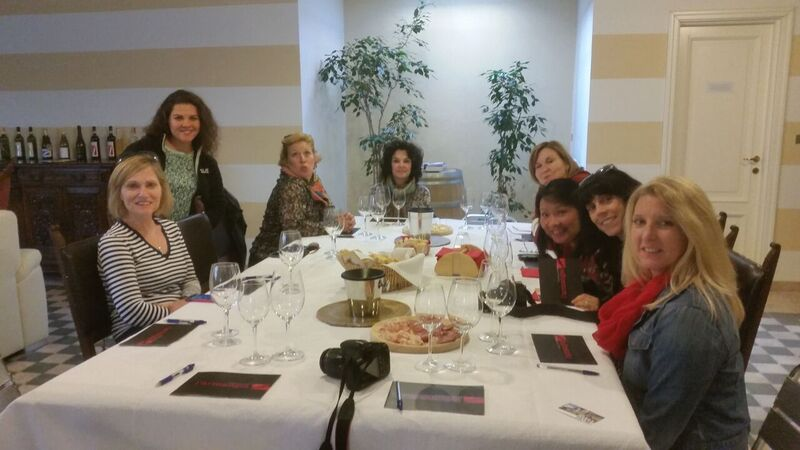 Wine tasting at l'Armangia Wendy Italy's tasty treasures