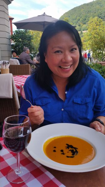 dining food pumpkin soup Wendy A stroll through Heidelberg