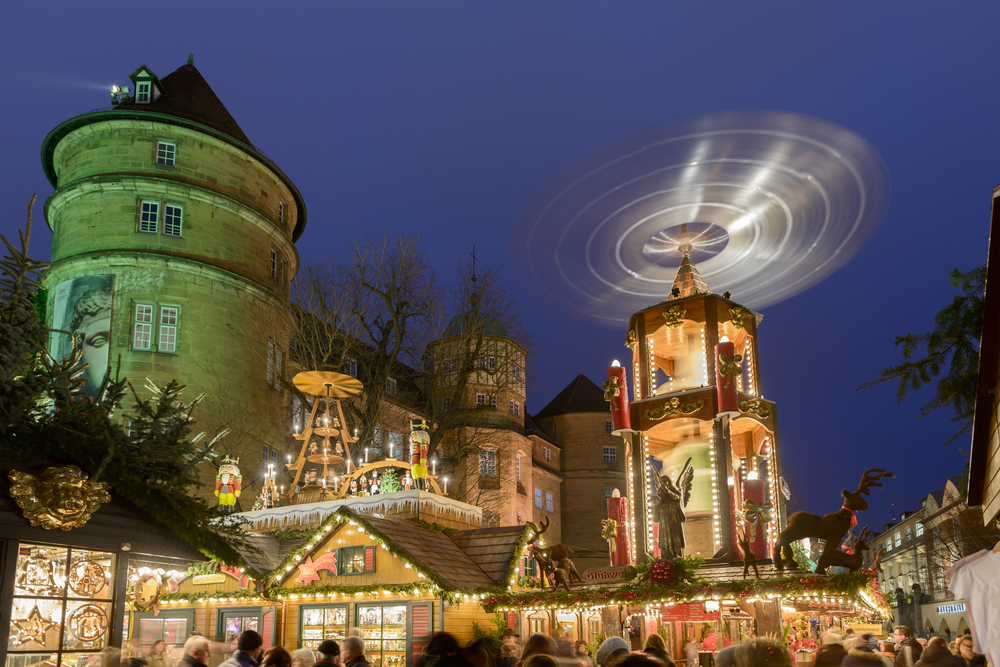 hal pand shutterstock Stuttgart Christmas Market with castle in backdrop