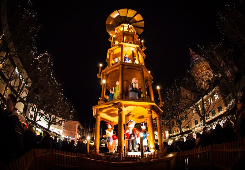 3 German Pyramod Windmill Gemma Under the lights of the Mainz Christmas Market