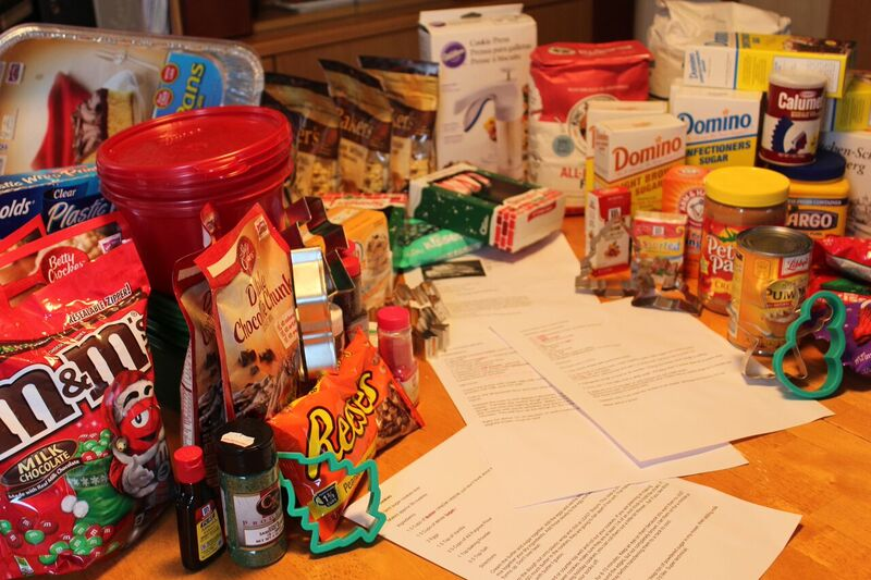 Prep table food Wendy Holiday Cookie Creations
